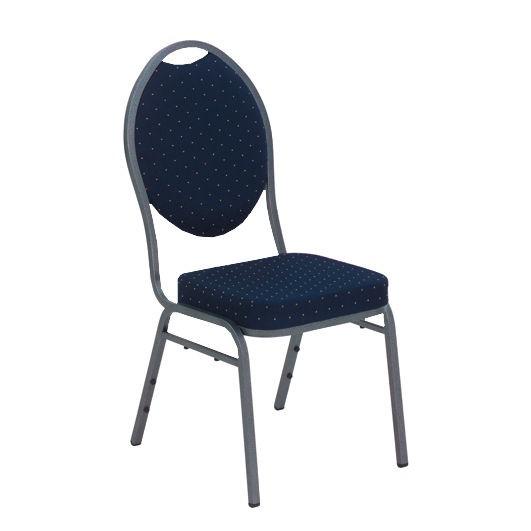 Bankettstühle mit blauem Polster